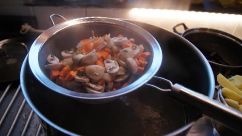 légumes à mi-cuisson
